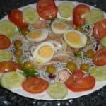 ▷ Ensalada delicias de mar 🥗 🦐 🍅