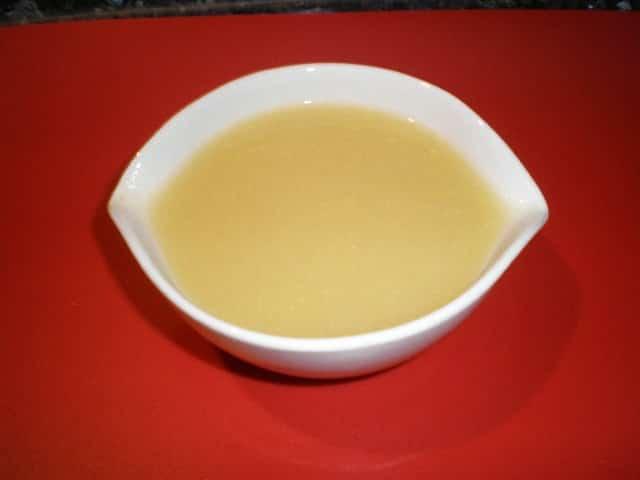 Crema de calabacín y cebolla morada
