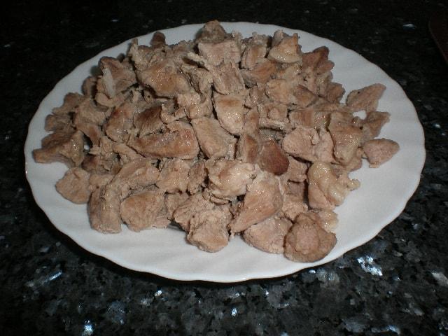 Carne de cerdo - Lentejas con chorizo y oreja