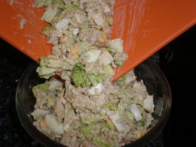 Ensalada de pollo y arroz