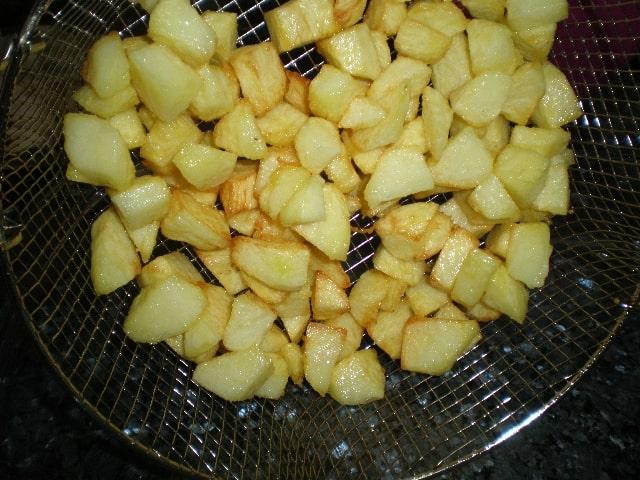 Sacar papas - Tortilla de papas y plátanos