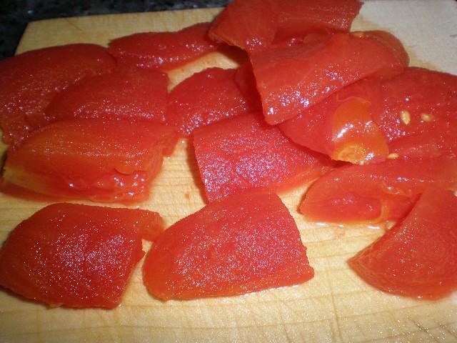 Partir tomates pera