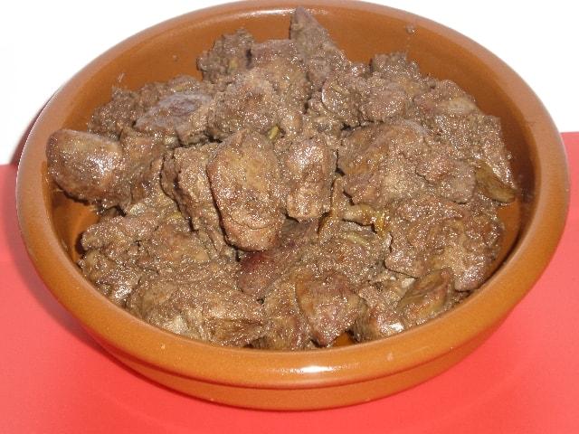 Hígado de pollo picante
