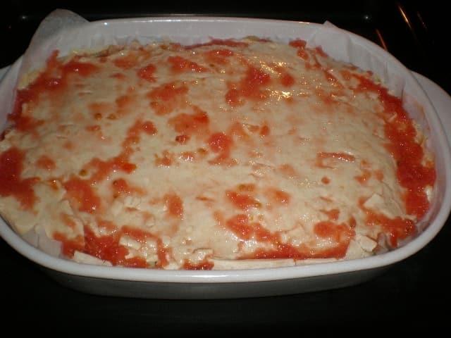 Empanada en el horno - Empanada con costra de tomate