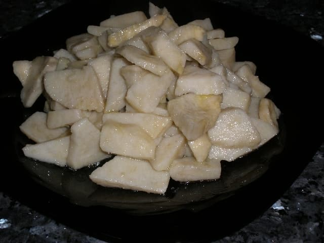 Batatas en plato - Batata al AOVE