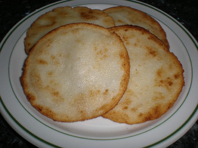 Tortitas de maíz fritas
