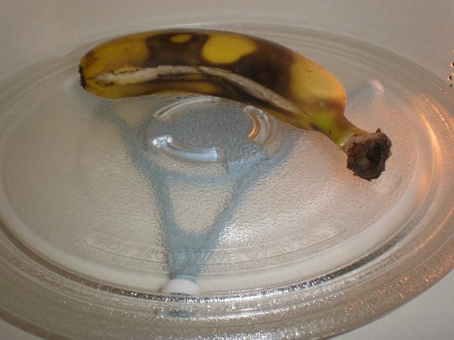 Plátano en microondas