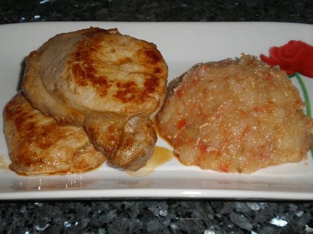 Lomo de cerdo frito