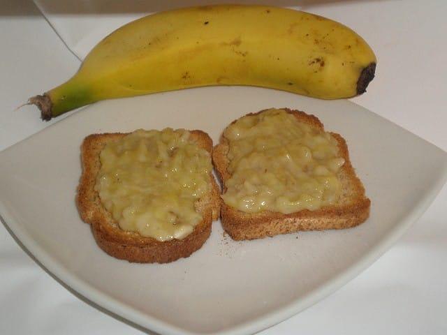 Tostadas con plátano