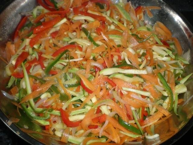 Dente de verdura al wok 2 - ▷ Dente de verdura al wok 🥕 🥒
