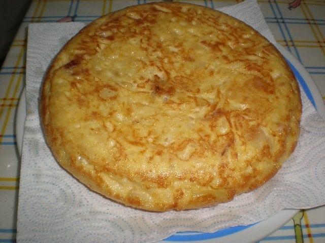 Escurrir aceite - Tortilla de papas