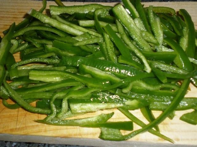 Juliana de pimiento verde - ▷ Dente de verdura al wok 🥕 🥒