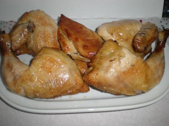 Pollo con jarabe de arce