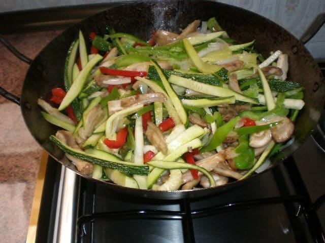 Saltear verdura