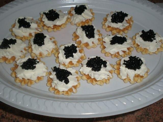 Con caviar - Canapés navideños