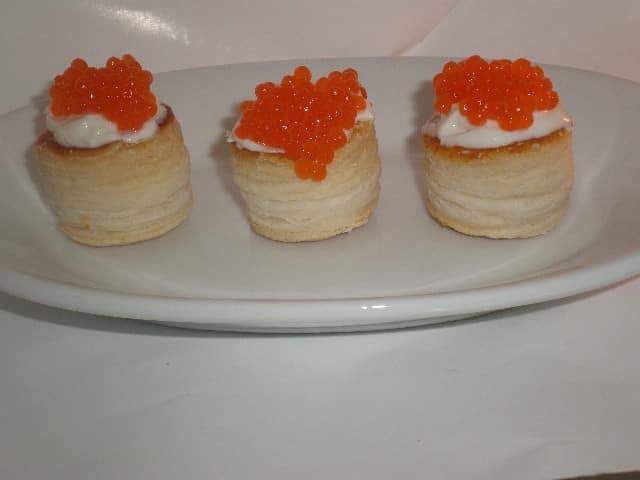 Mini volovanes bicolor