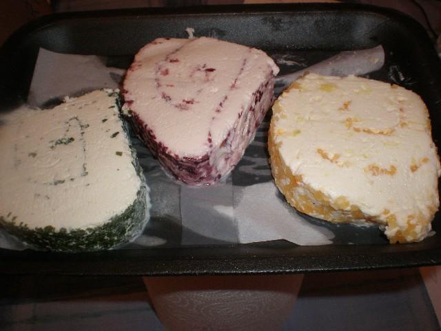 Mus de quesos afrutados