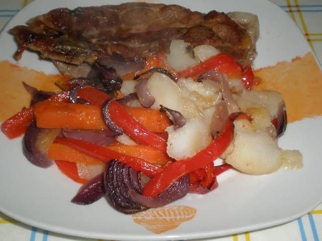 Chuletas y verdura al horno - ▷ Chuletas y verdura al horno ?