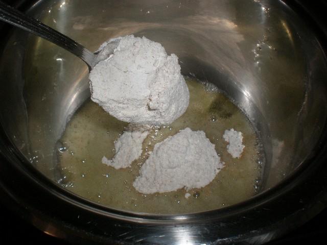 Freír harina