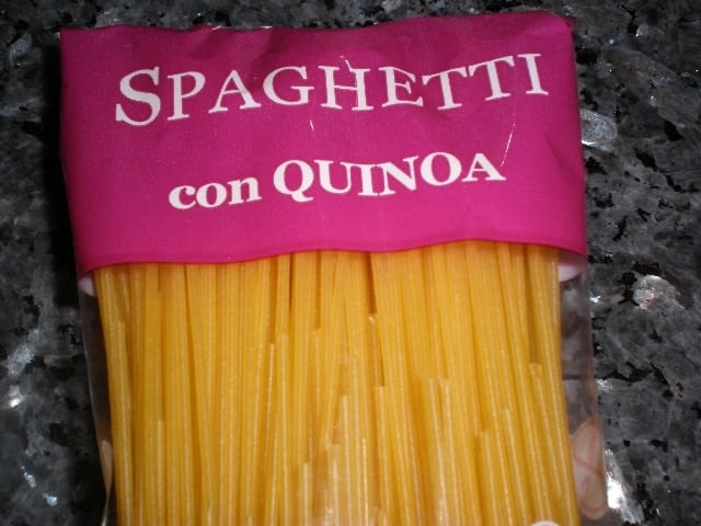 Espaguetis - Pasta de quinoa a los dos pescados
