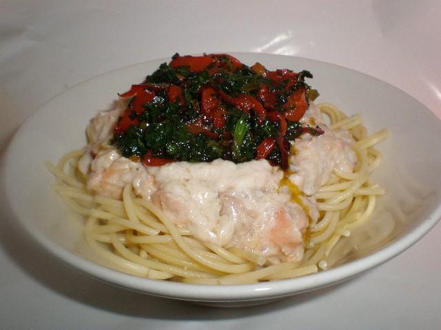 Espaguetis de quinoa a la guindilla - Pasta de quinoa a los dos pescados