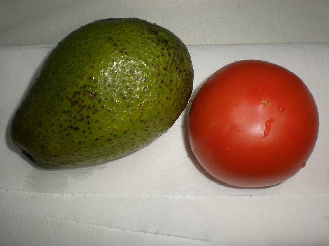 Aguacate y tomate - Ensalada sencilla