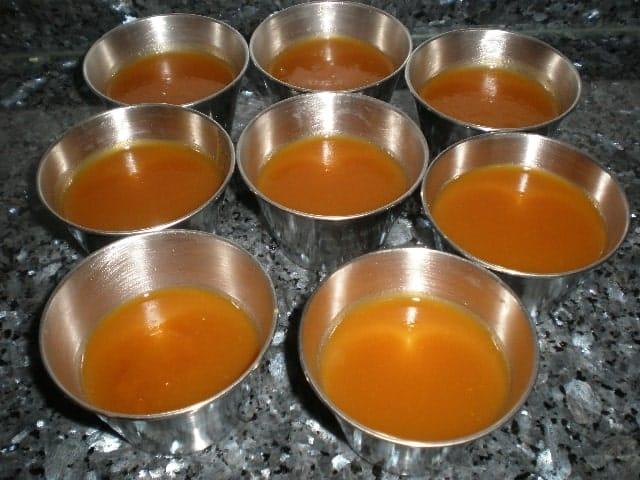 Gelatina de papaya con agar agar