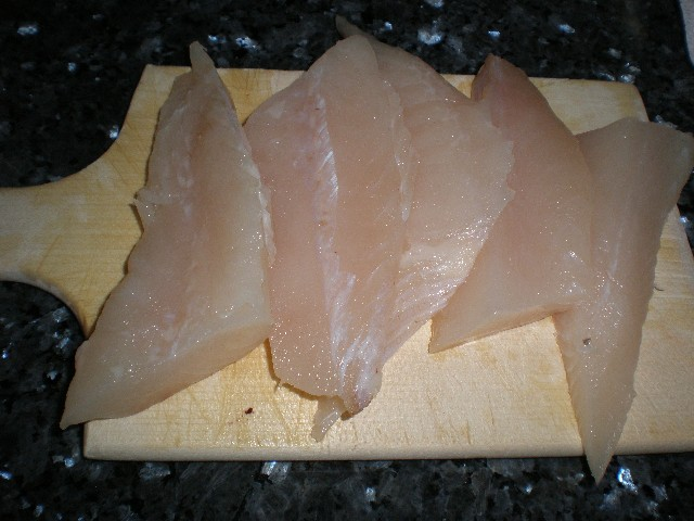 Filetes de gallo frescos y limpios
