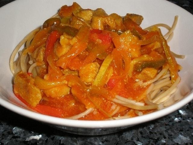 159410b2d8aaed37af98fd73a83bd77e - Espaguetis con Salsa bondiola