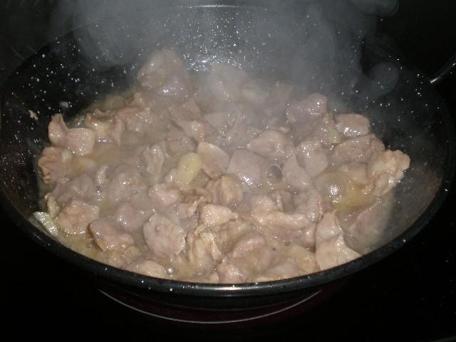 Cazuelilla de cerdo al jengibre
