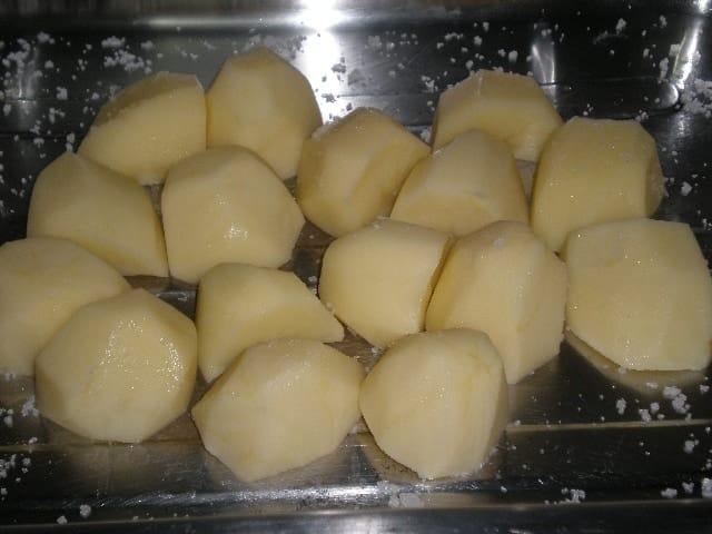 Poner las papas - ▷ Pollo con pimientos al horno 🍗