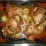 ▷ Pollo con pimientos al horno 🍗