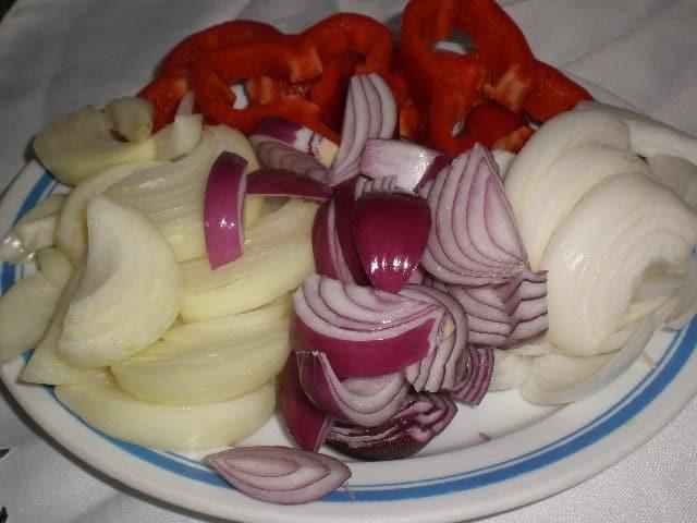 Cebollas y pimiento - ▷ Burro al horno ?