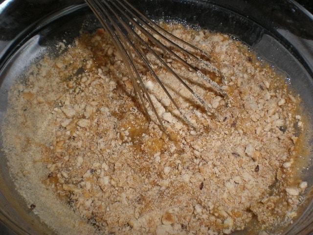 Mezclar galletas 1 - Tatín de piña y galletas