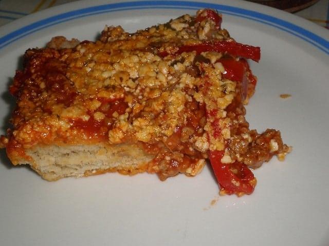 Pizza de carne y pimientos 2
