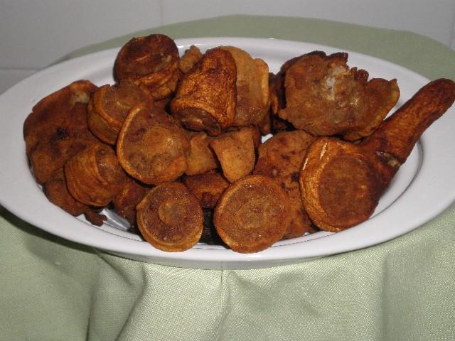 Rabo de cerdo frito