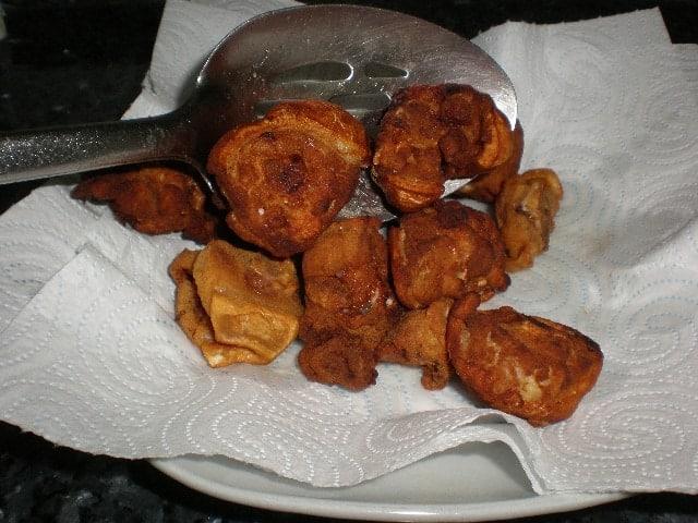 Sacar - ▷ Rabo de cerdo enharinado frito ?