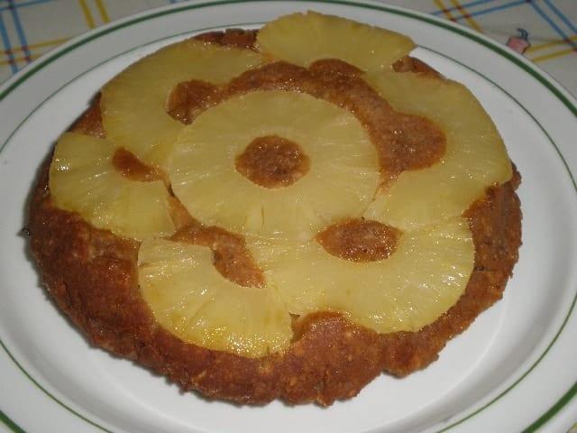 Tat%C3%ADn de pi%C3%B1a y galletas 2 - Tatín de piña y galletas