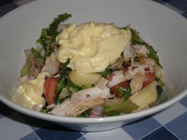 Emplatar ensalada - Ensalada otoñal