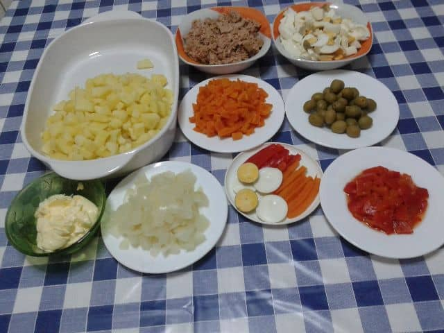 Ingredientes - Ensaladilla manzanilla
