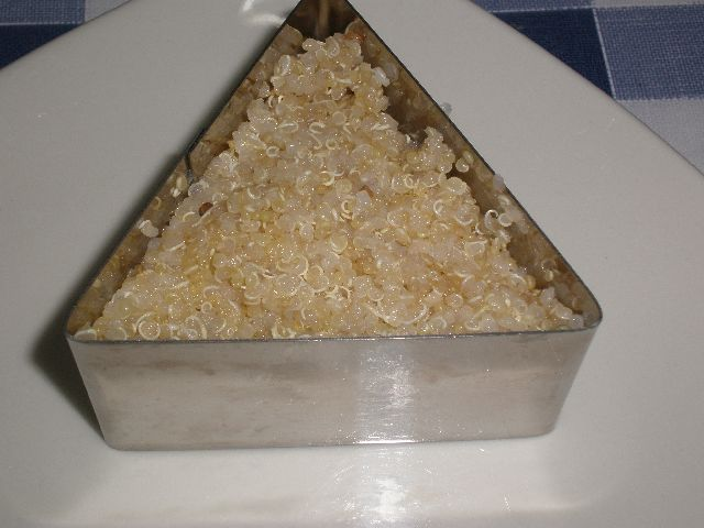 Quinoa en plato - Pollo con curry al horno