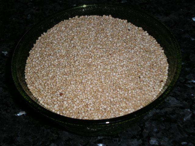 Semillas de quinoa - Pollo con curry al horno