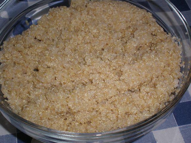 Semillas de quinoa hervidas
