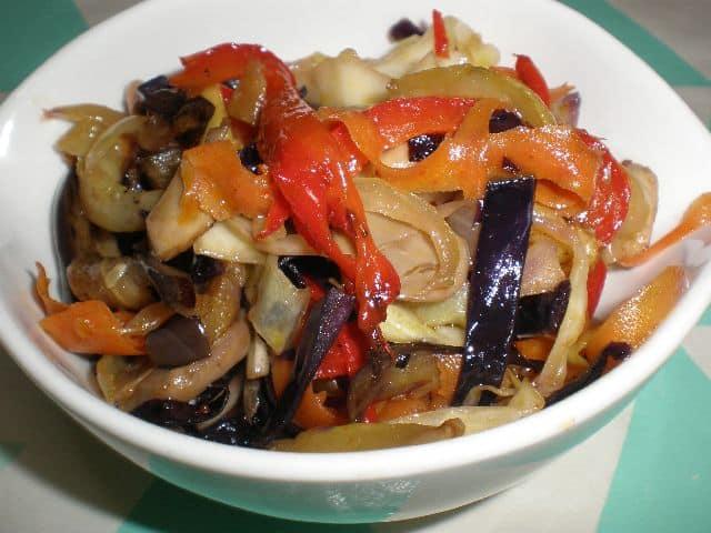 Salteado ocho verduras