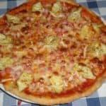 ▷ Pizza de alcachofas y jamón 🍕