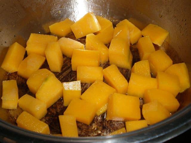 Freír calabaza