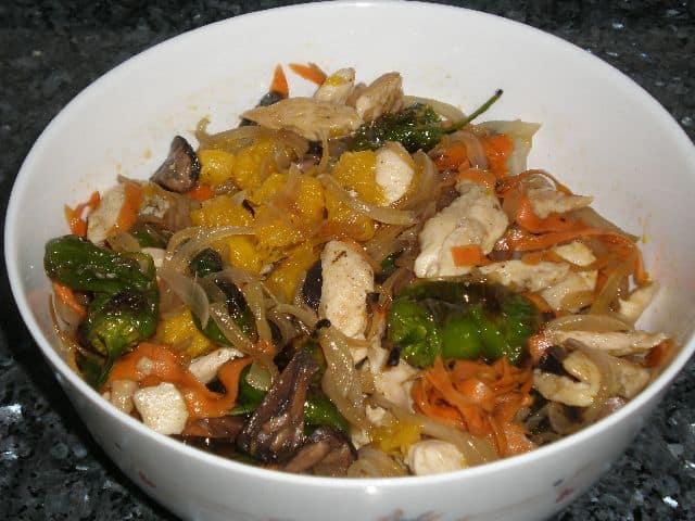 Fritura de pollo y verdrua 1 - ▷ Fritura de pollo y verdura 🐓
