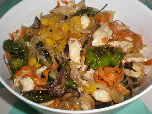 Fritura de pollo y verdrua 2 - ▷ Fritura de pollo y verdura 🐓