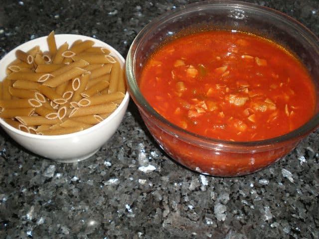 Pasta y salsa - Macarrones popan