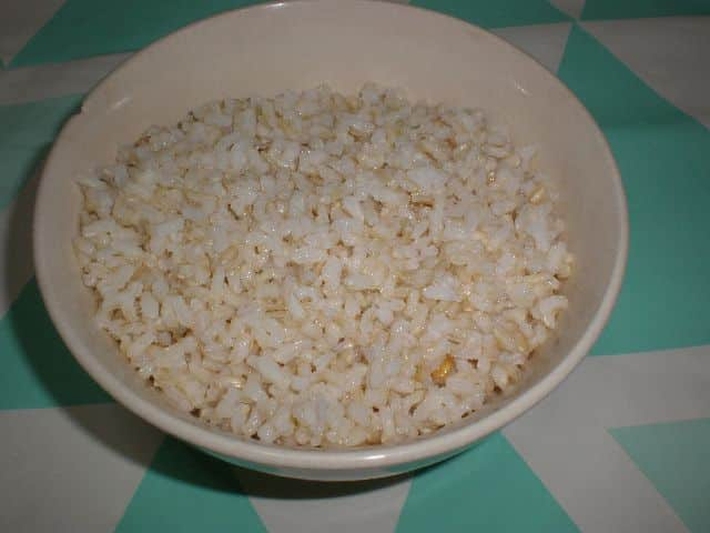 Arroz integral hervido